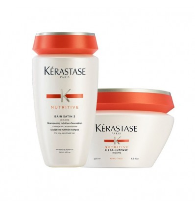 Kit Kerastase Nutritive Shampoo Irisome Bain 2 + Maschera Masquintense